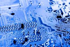 De samenvatting, sluit omhoog bij elektronische kringen, zien wij de technologie van mainboard, die de belangrijke achtergrond va royalty-vrije stock afbeelding
