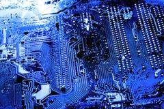 De samenvatting, sluit omhoog bij elektronische kringen, zien wij de technologie van mainboard, die de belangrijke achtergrond va stock afbeelding