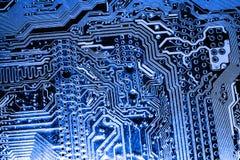 De samenvatting, sluit omhoog bij elektronische kringen, zien wij de technologie van mainboard, die de belangrijke achtergrond va stock foto's