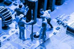 De samenvatting, sluit omhoog bij elektronische kringen, zien wij de technologie van mainboard, die de belangrijke achtergrond va stock afbeeldingen