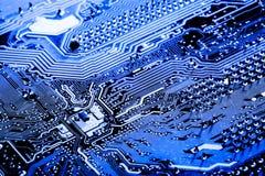 De samenvatting, sluit omhoog bij elektronische kringen, zien wij de technologie van mainboard, die de belangrijke achtergrond va royalty-vrije stock afbeeldingen