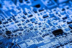 De samenvatting, sluit omhoog bij elektronische kringen, zien wij de technologie van mainboard, die de belangrijke achtergrond va stock foto