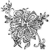 De samenvatting stelde gevormde hagedissen, tatoegeringsschets, druk voor Zwart-witte illustratie royalty-vrije illustratie
