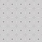 De samenvatting trekt van de de Bloem Bloemenlijn van de Ornamentwerveling Spiraalvormige Naadloze het Patroon Vectorillustratie Royalty-vrije Stock Fotografie