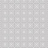 De samenvatting trekt van de de Bloem Bloemenlijn van de Ornamentwerveling Spiraalvormige Naadloze het Patroon Vectorillustratie Stock Afbeeldingen