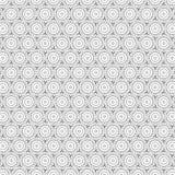 De samenvatting trekt van de de Cirkellijn van de Ornamentwerveling het Patroon Naadloze Vectorillustratie Als achtergrond Stock Foto