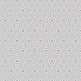 De samenvatting trekt van de de Cirkellijn van de Ornamentwerveling het Patroon Naadloze Vectorillustratie Als achtergrond Royalty-vrije Stock Fotografie
