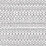 De samenvatting trekt van het de Lijn Naadloze Patroon van de Ornamentwerveling de Spiraalvormige Vectorillustratie Royalty-vrije Stock Foto's