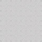 De samenvatting trekt van de de Lijncirkel van de Ornamentwerveling Spiraalvormige het Patroon Naadloze Vectorillustratie Als ach Royalty-vrije Stock Afbeelding