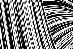 De samenvatting trok Zwart-witte Lijnenachtergrond scheef Stock Foto