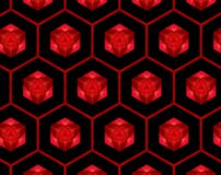 De samenvatting uitgedreven 3D illustratie van het honingraatpatroon vector illustratie