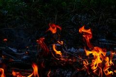 De samenvatting van de brandvlam royalty-vrije stock foto