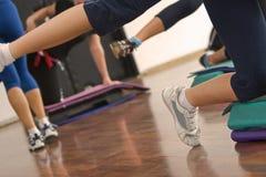 De samenvatting van de aerobics Stock Afbeelding