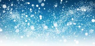 De samenvatting van de de wintersneeuw royalty-vrije stock afbeelding