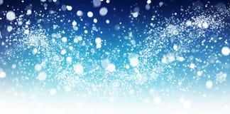 De samenvatting van de de wintersneeuw Stock Afbeelding