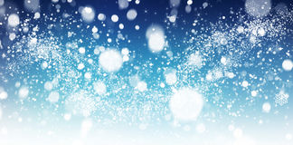 De samenvatting van de de wintersneeuw Stock Fotografie
