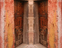 De samenvatting van de deuropening stock afbeeldingen