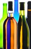 De Samenvatting van de Flessen van de wijn Royalty-vrije Stock Foto's