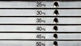 De samenvatting van de gewichtsstapel Stock Foto's