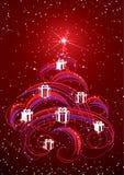 De samenvatting van de kerstboom Stock Afbeelding