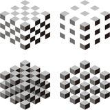 De samenvatting van de kubus stock illustratie