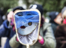 De Samenvatting van de maskerade stock afbeeldingen