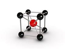 De samenvatting van de molecule stock illustratie