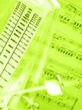 De samenvatting van de muziek Stock Afbeelding