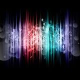 De samenvatting van de muziek Stock Foto
