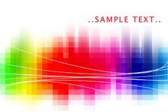 De samenvatting van de regenboog Stock Fotografie