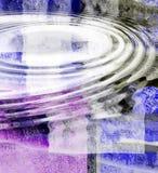 De Samenvatting van de Rimpeling van het water Stock Foto