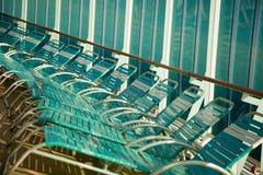 De Samenvatting van de Stoelen van de Zitkamer van het Schip van de cruise Stock Afbeelding