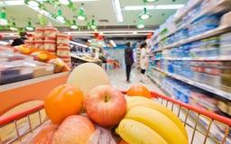 De samenvatting van de supermarkt royalty-vrije stock afbeeldingen