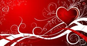 De samenvatting van de valentijnskaart Stock Fotografie