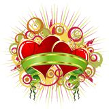 De samenvatting van de valentijnskaart Stock Foto