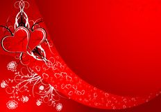 De samenvatting van de valentijnskaart Stock Afbeelding