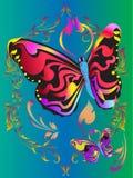 De Samenvatting van de vlinder Stock Foto's