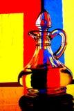De Samenvatting van de Waterkruik van de Olijfolie Royalty-vrije Stock Afbeeldingen