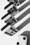 De samenvatting van domino's Stock Foto's