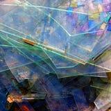 De samenvatting van het glas Stock Foto