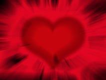 De samenvatting van het hart Stock Foto