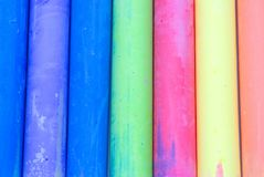 De Samenvatting van het Krijt van de kleur Royalty-vrije Stock Foto's