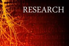 De Samenvatting van het onderzoek Stock Foto
