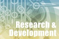 De Samenvatting van het onderzoek en van de Ontwikkeling Stock Foto's