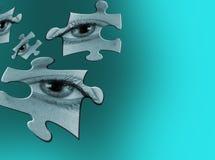 De samenvatting van het oog vector illustratie