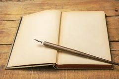 De samenvatting van het schrijven stock afbeelding