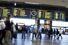 De Samenvatting van het station Stock Afbeelding