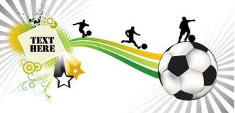 De samenvatting van het voetbal Stock Afbeeldingen