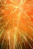 De Samenvatting van het vuurwerk Stock Foto