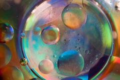 De samenvatting van het water en van de olie Stock Foto
